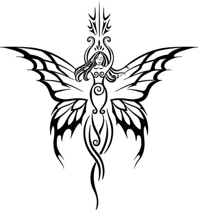 Tribal Fairies Tattoos